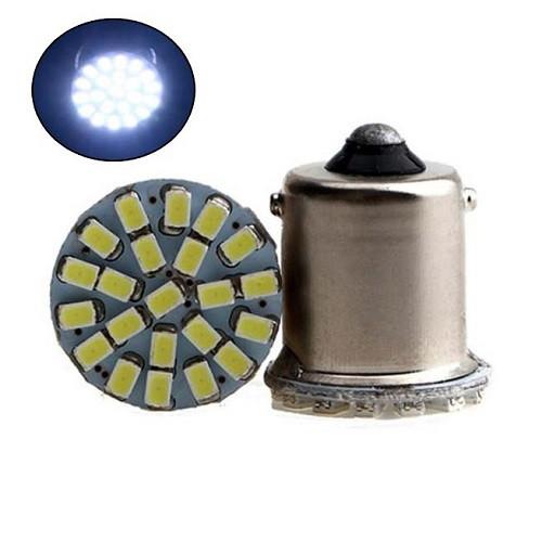 2x LED 1156 BA15S P21W лампа в автомобиль, 22 SMD 5050, белый