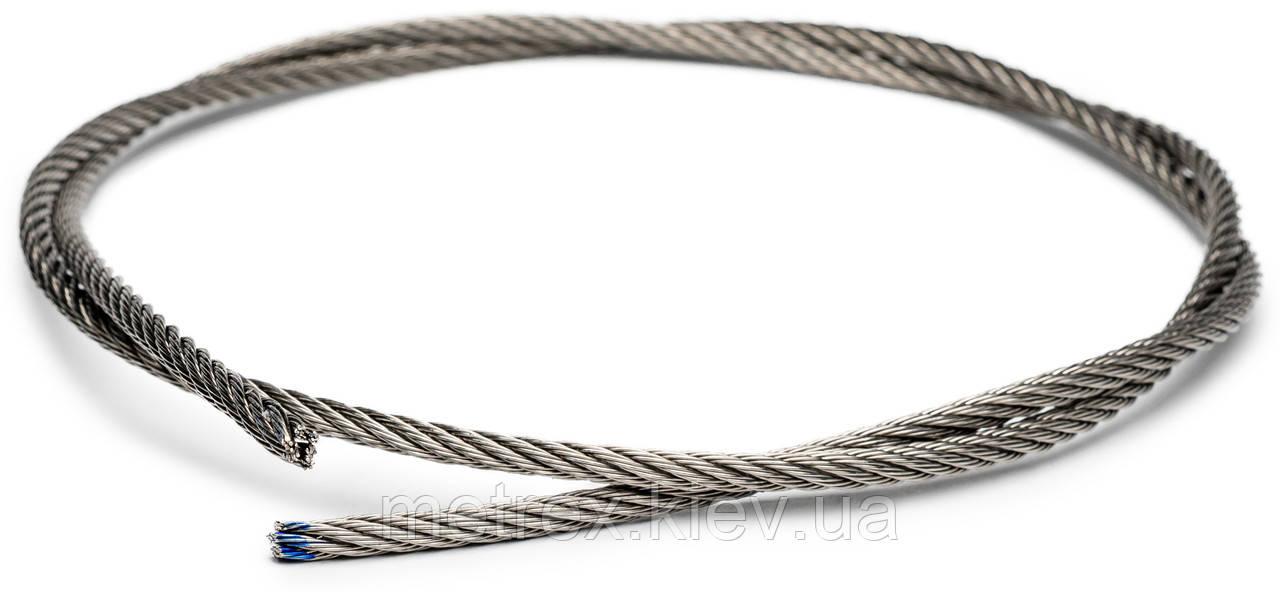 Трос із нержавіючої сталі 5 мм DIN 3055 6х7 А4