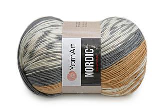 YarnArt Nordic, №657 бело-серо-рыжий