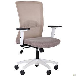 Кресло Uran White сиденье Сидней-09/спинка Сетка SL-02 беж TM AMF