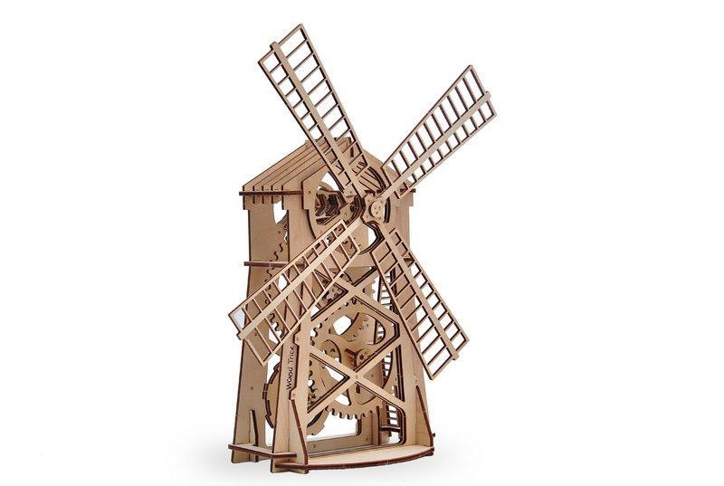 3D деревянный сборный механический конструктор Wood Trick Мельница 129738