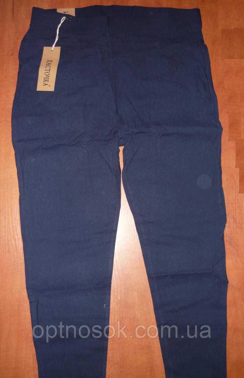 """Штани жіночі джинсові """"Ластівка"""" з кишенями на байку. Батал. р. 6XL. Сині."""