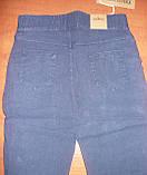 """Штани жіночі джинсові """"Ластівка"""" з кишенями на байку. Батал. р. 6XL. Сині., фото 3"""