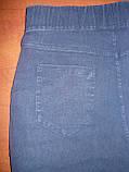 """Штаны женские джинсовые """"Ласточка"""" с  карманами на байке. Батал. р. 7XL. Синие., фото 4"""