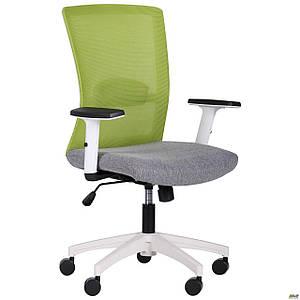 Кресло Uran White сиденье Сидней-20/спинка Сетка SL-06 салатовая TM AMF
