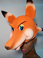 Карнавальна шапка-маска Лисиці з поролону для дітей і дорослих