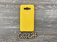 Чехол Soft touch для Samsung J510H Galaxy J5 2016 желтый, фото 1