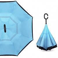 Зонт обратного сложения, антизонт, умный зонт, зонт наоборот Up Brella Голубой 183013