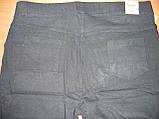 """Штаны женские джинсовые """"Ласточка"""" с  карманами на байке. Батал. р. 7XL. Черные, фото 8"""