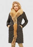 Зимний пуховик из натурального меха енота, фото 1