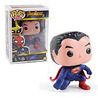 Игрушка супер герой Pop Heroes Superman Avengers светящиеся глаза 133061, фото 1