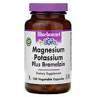 Бромелайн+магний и калий, Magnesium Potassium Bromelain, Bluebonnet Nutrition,120 кап.