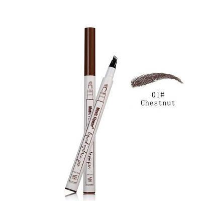 Жидкий карандаш с эффектом тату для бровей Music Flower 01# Chestnut темно-коричневый 150271