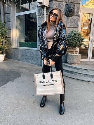 Стильная женская теплая куртка из экокожи 42-48 р, фото 2