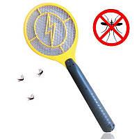 Мухобойка электрическая аккумуляторная ракетка от комаров и насекомых Mosquito hitting 130770
