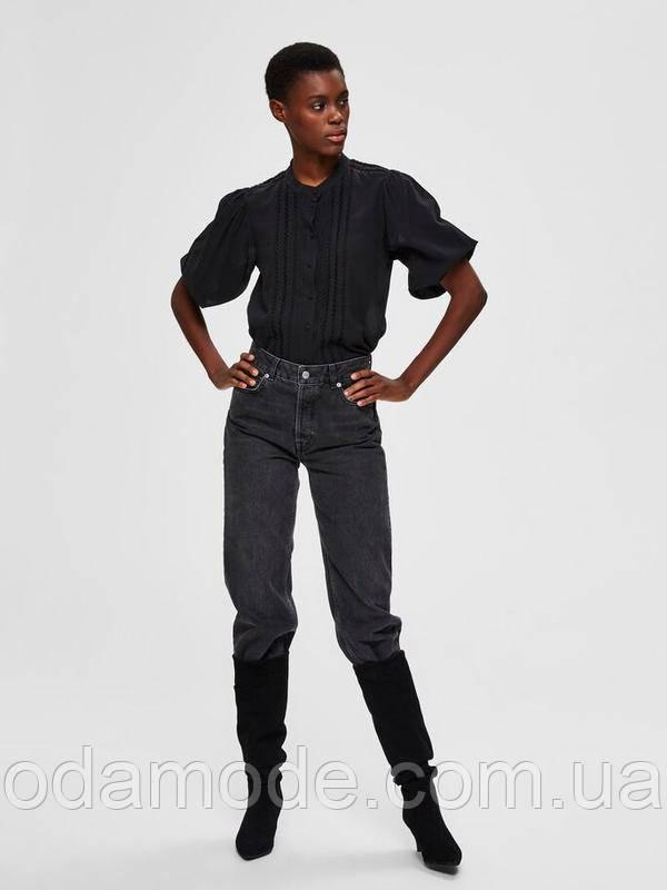 Блуза черная женская Selected