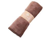 Банное махровое полотенце 72х35 см SH88005 коричневое 137964