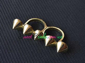 Кольцо С шипами, золото