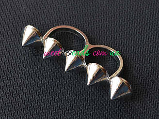 Кольцо С шипами, серебро
