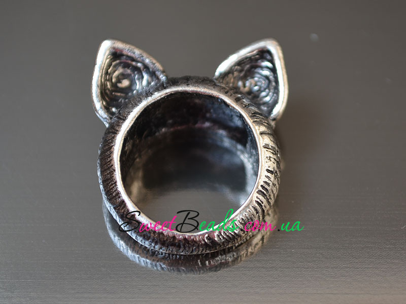 Кольцо Ушки, серебро