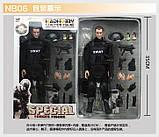 Игрушка солдат/swat 12 action figure, фото 7