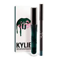 Набор матовая помада и карандаш для губ в стиле Kylie Lip Kit Trick 182999