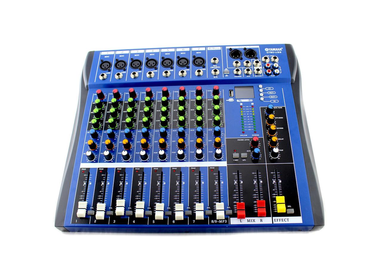 Аудиомикшер Mixer MX 606U 6 канальный 179697
