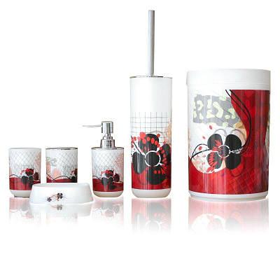 Набор аксессуаров для ванной комнаты Bathlux Flowers 71080