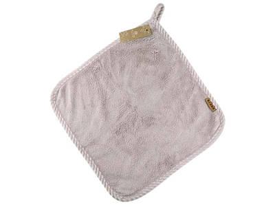 Банное махровое полотенце 33х33 см SH88013 бежевое 137953