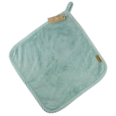 Банное махровое полотенце 33х33 см SH88013 голубое 132696