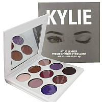 Набор теней для век 9 цветов с зеркалом в стиле Kylie Purple Palette 140135