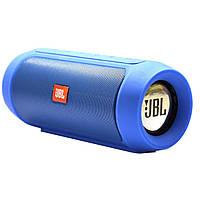 Колонка беспроводная портативная Bluetooth в стиле Jbl Charge 2 синяя 142208