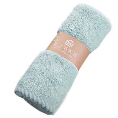 Банное махровое полотенце 72х35 см SH88005 голубое 132445