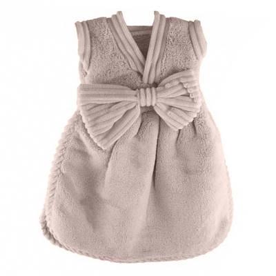 Банное махровое полотенце Платье с бантом 33х33 см SH88138 бежевое 149099