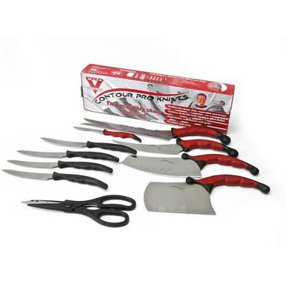 Набор кухонных ножей контур про с магнитной рейкой 11 предметов Contour Pro Knives 130337