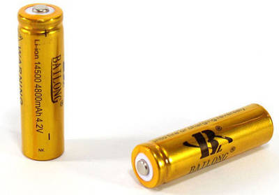 Батарейка Battery 18650 Золотая 180295