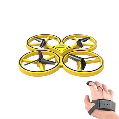 Квадрокоптер управление жестами 3D flip Tracker Gravity Sensor желтый 154562