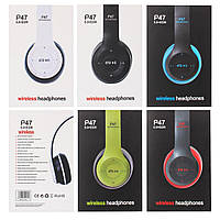 Наушники bluetooth Stereo Headphones P47 черный 168616
