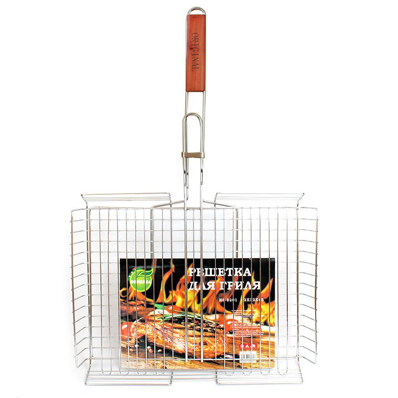 Решетка для гриля Bbq сетка для шашлыка большая 44х34 см 149792