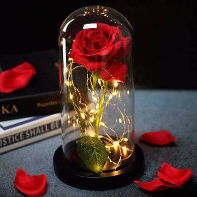 Роза в колбе с Led Красная 8Х17 171699