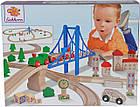 """Игровой набор Eichhorn """"Железная дорога. Путешествие через мост"""", 55 элементов, длина 500 см, 100001264, фото 5"""