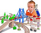 """Игровой набор Eichhorn """"Железная дорога. Путешествие через мост"""", 55 элементов, длина 500 см, 100001264, фото 7"""