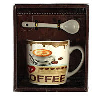 Чашка с ложечкой в подарочной упаковке Coffee латте