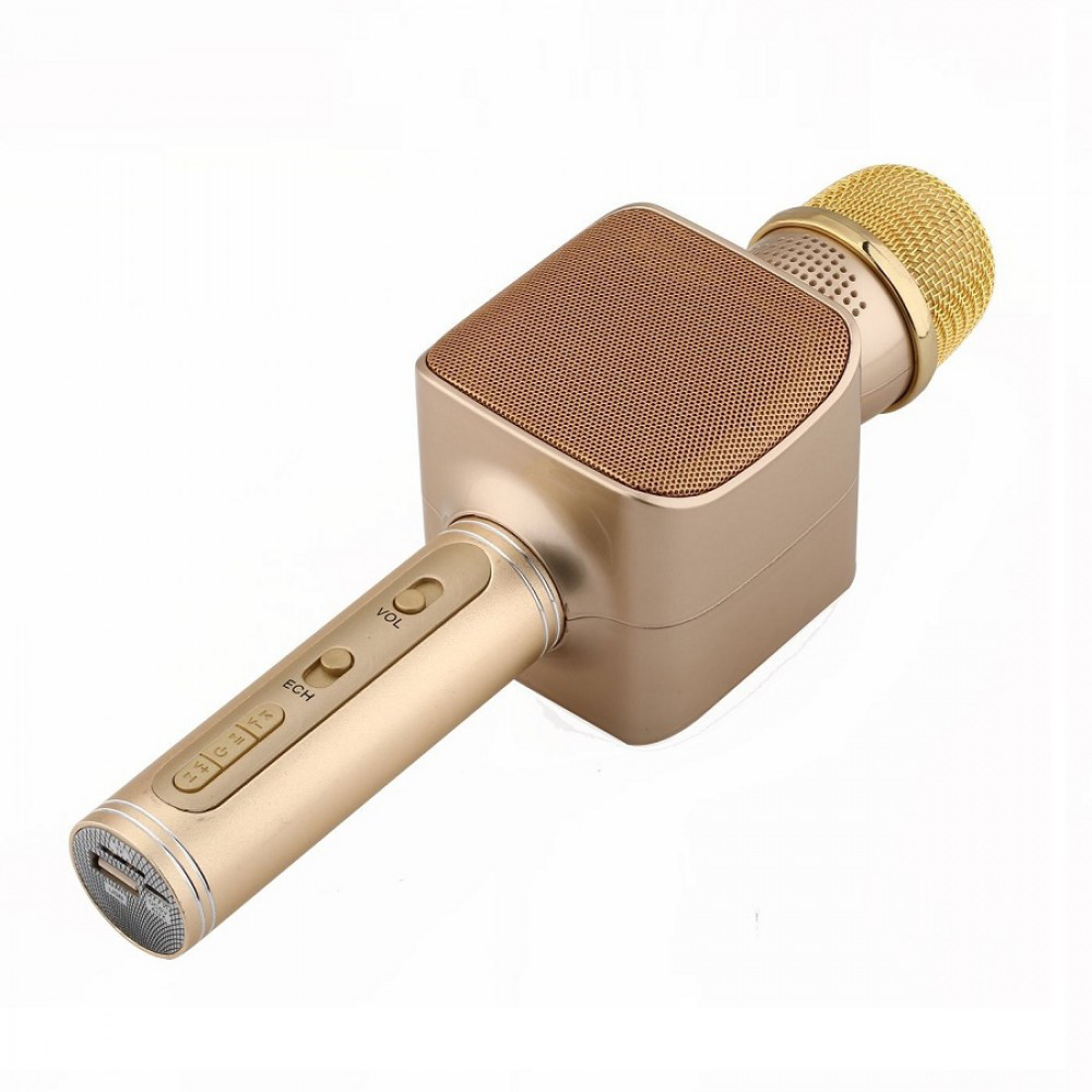 Беспроводной портативный Bluetooth микрофон для караоке Magic Karaoke YS-68 колонка 2 в 1 с мембраной низких