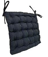 Подушка на стул Кедр на Ливане квадратная стеганная серия Classic Black 38x38x5