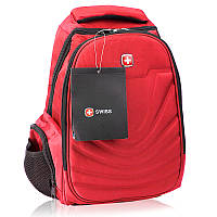 Рюкзак городской с выходом для наушников и ортопедической спинкой в стиле Swiss 8861 20 л красный 150921