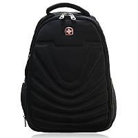 Рюкзак городской с выходом для наушников и ортопедической спинкой в стиле Swiss 8861 20 л черный 150922