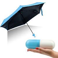 Компактный зонт-капсула Capsule Umbrella голубой 149504