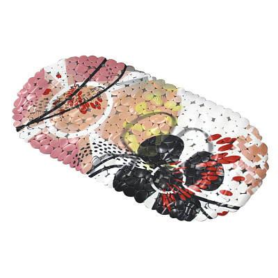 Коврик в ванную комнату антискользящий резиновый 69х35 см Bathlux Flowers 40283 132204