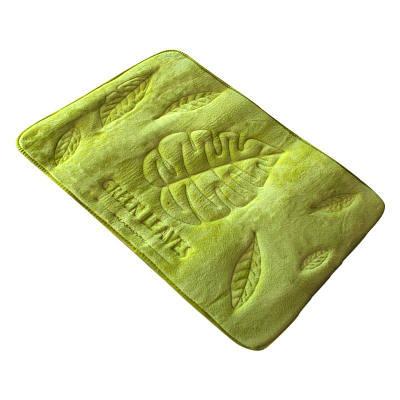 Коврик в ванную комнату антискользящий хлопковый 45х75 см Bathlux Green Leaves 10174 132458